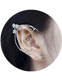 Ohr-Manschetten im Elfen-Design, Filigranarbeit mit Perlen, handgemachter Modeschmuck für Elfen-Cosplays, Fantasy-Kostüme, 1 Paar