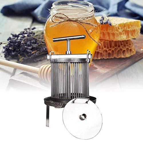 KiGoing Große Honigpresse Extraktor Bienenwachs Presser, Edelstahl Haushalt Manuelle Honig Presser Wachspresse Imkerei Werkzeugmaschine Für Honig, Obst, Öldruckentwässerung