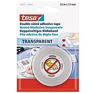 Tesa 64621-00000-04 Spar-Set 10x: tesa Doppelseitiges Klebeband 10m:12mm TRANSPARENT Länge/m: 10,00 Breite/mm: 12,0