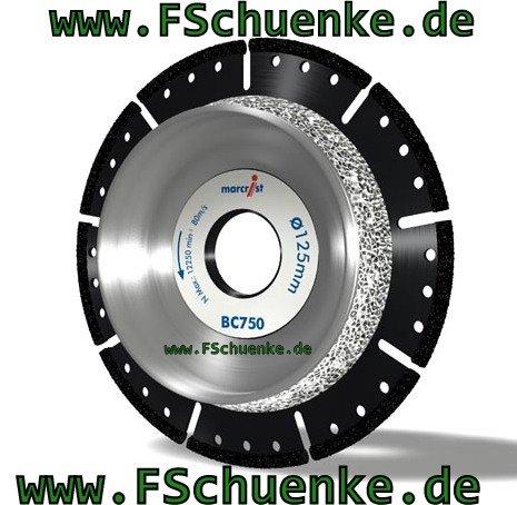 Marcrist 2410.0125.22 Diamant Schneid-Anfasscheibe, Type: BC750, 125 mm x 22,2 mm