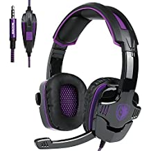 sa930 3.5 mm stéréo gaming micro sur l'oreille des écouteurs pour pc / mac / qp4 (violet)