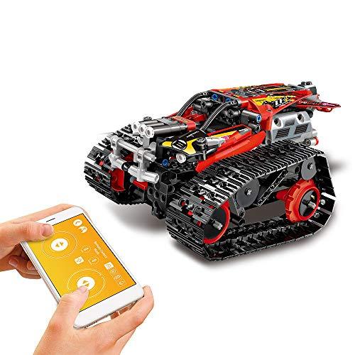 Goolsky MoFun RC Bausteine Auto DIY Bausatz Auto Spielzeug RC Panzer RC Stunt Auto APP Steuerung Schwerkraftsensor