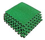 ASC Dalles de pelouse Artificielle–EVA carrelage recouvert de Style de Football–Football Pièce–Putting Green etc.–4Pk–2,7m SQ