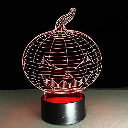 CYJQT 3D Nachtlicht Für Kinder Halloween Kürbis Schädel Usb Led7 Farbwechsel Stimmung Lichter Touch Tasten Kinderzimmer Lichter
