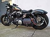 HD Sporty Skull Black Harley Davidson Borsa a tracolla laterale Sportster Forty Eight Lowrider Hugger XL 1200 48 883 Orletanos Biker Borsa Nero
