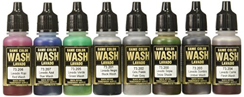 VALLEJO AV WASHES JUEGO 8 X 17 ML