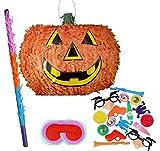 Halloween Kürbis Pinata Party Pack Einschließlich Pinata, Füllung, Sock und Augenbinde