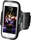 Mpow iPhone 6 6s iPhone 7 Armband,  [Ultra Comfortable] Adjustable Sports Armband Sweatproof  Running Phone Holder for iPhone 6 / iPhone 6s (4.7 inch) With Key Slots for Gym, Running, Biking, Hiking, Workout and other Sports, Black
