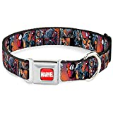 Buckle Down 22,9–38,1cm ave-Marvel Full Color Rot/Weiß Hund Halsband