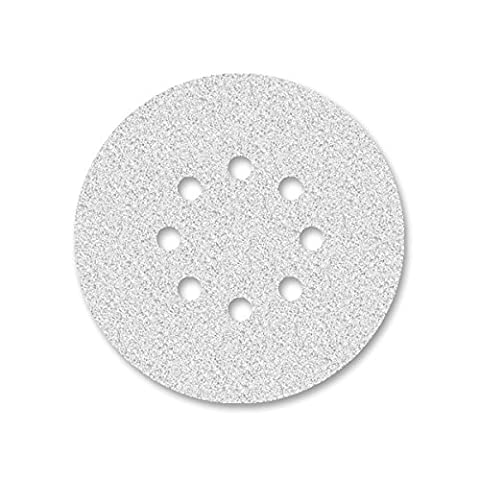 50 Disques abrasifs auto-agrippants MioTools pour ponceuse excentrique - Ø 150 mm - grain 80 - 8 trous