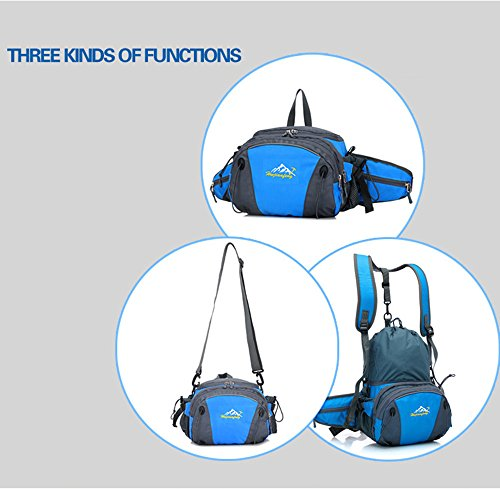 5 All Sling-Rucksack Sling Bag Chest Pack Taschen HANDY Tasche Outdoor Sports Camouflage Trekkingrucksack als Radfahr Jogging-Rucksack Kettle Paket Dunkelblau F