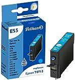 Pelikan E55 Druckerpatrone (ersetzt Epson T07124011) cyan