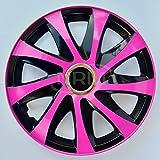 Radzierblende DRIFT EXTRA pink/schwarz 15 Zoll 4er Set
