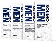 Amazon-Marke: Solimo Men Gesichts-Feuchtigkeitspflege für sensible Haut mit Aloe Vera, Vitamin E und Süßholz-E