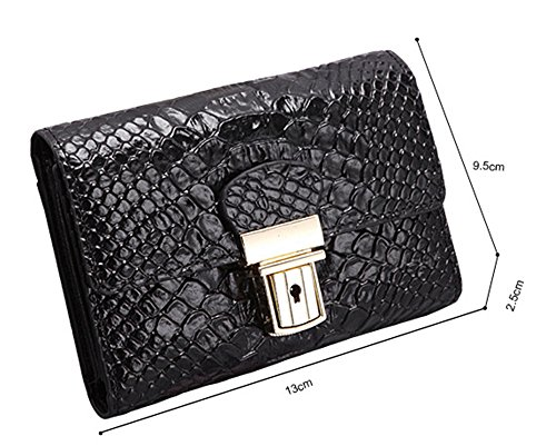 Xinmaoyuan Portafogli donna Creative Custodia in cuoio donne breve paragrafo custodia a portafoglio Wallet Casual borsa a mano,Nero Nero