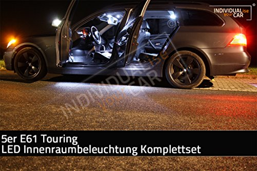 LED Innenraumbeleuchtung SET für 5er E61 Touring - Cool-White kein Panoramadach