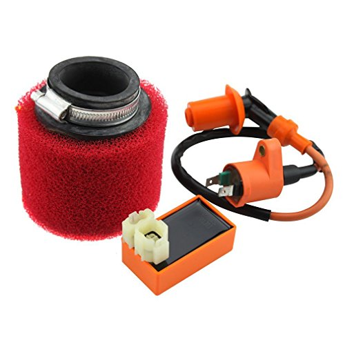 GOOFIT 6pines CDI bobina de encendido y filtro de aire para GY650cc 60cc 80cc 125cc 150cc atv Dirt Bike ciclomotor y scooter Go Kart