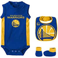 NBA Golden State Warriors Newborn Babygrow-Bib and Bootie Set, Conjunto para Bebés