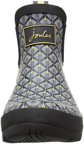 Tom Joule Damen Wellibob Gummistiefel Black (Black Feather Geo)