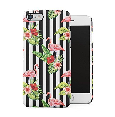 Tropical Hibiscus Flower & Flamingo Birds Pattern Apple iPhone 7 Snap-On Hard Plastic Protective Shell Case Cover Custodia Hibiscus & Flamingo