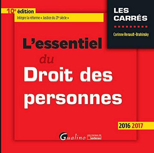 L'Essentiel du Droit des personnes 2016-2017