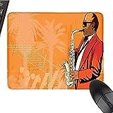 """MusicCustomize Tapis de souris Motif floral mignon avec clé de sol et moineaux volants chantants Marron blanc 24,8 x 29,8 cm 9.8""""x11.8"""" Color3"""