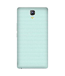 Zigzag Blue Back Cover Case for Gionee Marathon M5