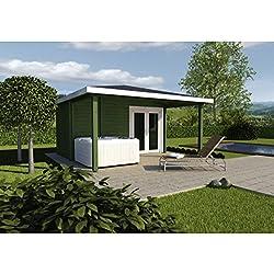 Infraworld Poolhaus Living 2 Größe 445 x 230 cm in nord. Fichte 391051