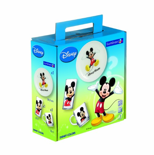 Luminarc, Serie Disney Colors, Kinderset 3-teilig, mit farbenfrohem Design