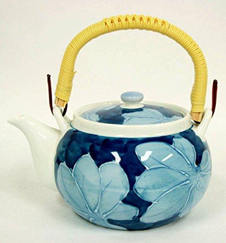 Japanisches Teeservice KOIBASAI 4er Teeset hergestellt in Japan Teekanne 650ml Teeschalen Ø 8,5, H 5,5 cm