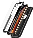 Oqton Coque iPhone XS Intégrale: Coque 360° Avant Arrière + x2 Protections...