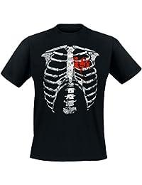 Darkside – Skelett + blutendes Herz T-Shirt