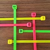 100 x Kabelbinder verschiedene Längen und Farben, Farbe:neongruen, Größe:200 x 4.8 mm