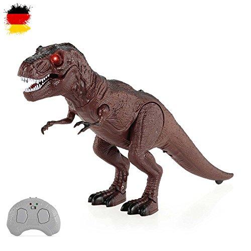 HSP Himoto RC Ferngesteuerter elektronischer Tyrannosaurus T-Rex Dinosaurier für Kinder, Dino-Tiere, mit Sound und Gehfunktion, Komplett-Set inkl. Fernsteuerung