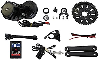 Latest BBSHD BBS03 48V 1000W 8fun Bafang Mittelmotor Ebike bicycle Kit Tretlagerbreite:68mm with Colour Display