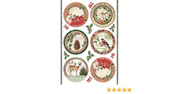 Winter Botanic Spheres KFT Rice Paper Pack A4 STAMPERIA INTERNATIONAL One Size
