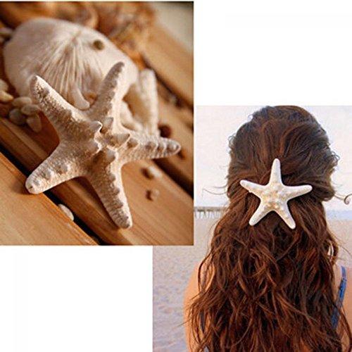 Einfach Themen Kostüm Meer - Haarklammern, Seestern, elegant, Stern, für Strand, Hochzeit, Meerjungfrau, Kostüm, Schmuck, Accessoires, 2 Stück