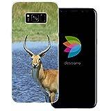 dessana Afrika Safari transparente Silikon TPU Schutzhülle 0,7mm dünne Handy Tasche Soft Case für Samsung Galaxy S8 Plus Antilope Hörner