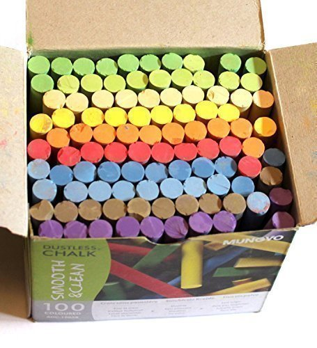 Creation Station Dustless Blackboard Chalk  Multi-Colour