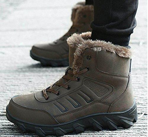 Hombres De Invierno Trainers Zapatos De Senderismo Al Aire Libre Zapatos De Senderismo Caliente Warm Snow Boots Zapatos De Hombre Cómodo Brown