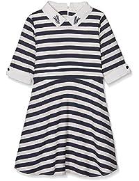 Yumi Nautical Stripe Dress (Navy), Vestido para Niños