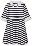 Yumi Girl's Nautical Stripe (Navy) Dress, Blue (Navy), 7-8 Years