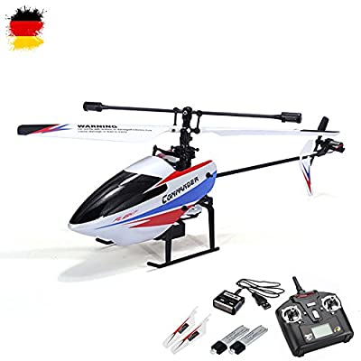 Single Rotor RC 4.5Channel RC Helicopter with 2.4Ghz Technology and Gyro Ready To Fly Speaker System with Rechargeable Battery and Remote Control from HSP Himoto