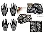 Aktion! 8 Teiligie Mehandi Schablonen Set K Henna Designs fürHenna Tattoo Glitter Tattoo und Air Brush Tattoo