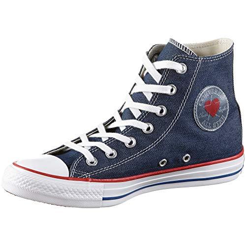 Converse Unisex-Erwachsene Chuck Taylor All Star Hohe Sneaker Blau (Indigo/Enamel Red/Blue 000) 39 EU (Und Jeans Converse)