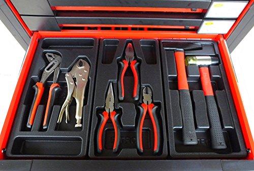 Bensontools Werkstattwagen 542 teilig Werkzeugwagen gefüllt Werkzeug 7 Kugelgelagerte Laden, 1 Stück, XL, 6333 - 4