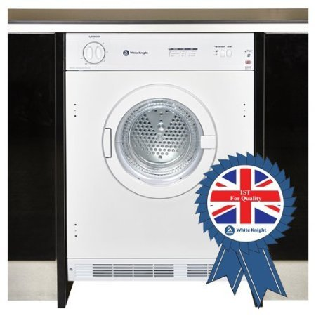 White Knight C8317WV Intergrated 7Kg Sensing Vented Dryer in White