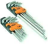 Rolson Tools 40389 - Set di brugole con rastrelliera, 18 pezzi