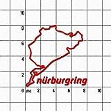 Aufkleber Nürburgring 8cm, rot