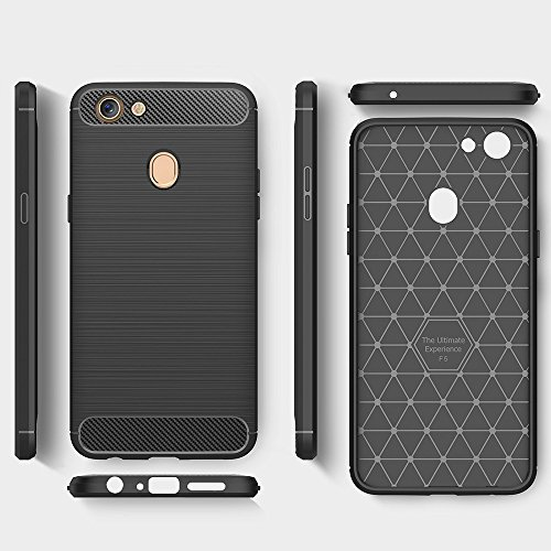 OPPO F5 Case, WindCase Carbon Fiber Resilient TPU Drop